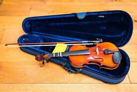 3/4 Violin ANTONI.. made from solid maple with hard case & bow PRIMARY SCHOOL AGE 9,10,11