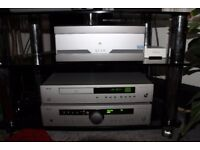 Arcam and quad stereo package with monitor audio and mission speakers.