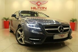 Mercedes-Benz CLS 3.0 CLS350d CDI BlueEFFICIENCY AMG Sport 7G-Tronic Plus 4dr (grey) 2011