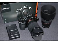 Sony A7 Full Frame Camera + 2 Lenses + Accessories