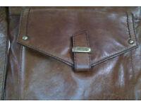 Brown leather handbag - M and S