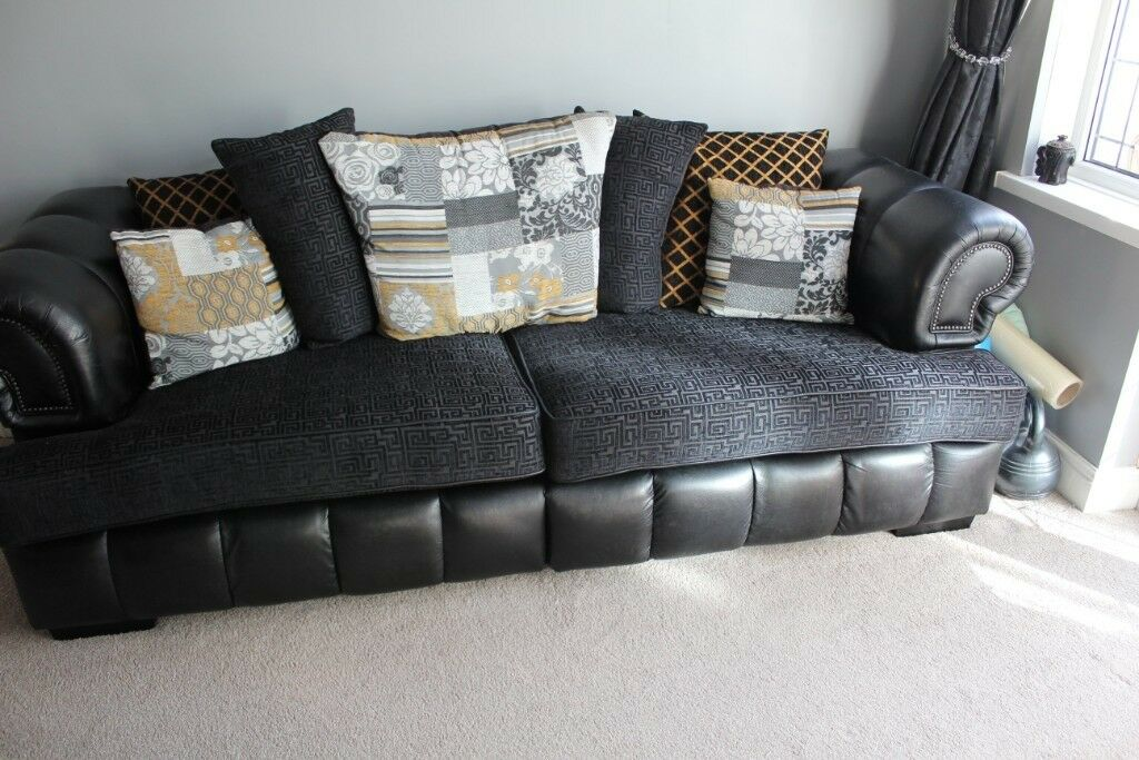 Contemporary SCS Sofa Suite, leather 4 or 3 seater/2 ...