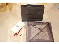 Luxury Louis Vuitton creamy brown Scarf /Shawl - brand new