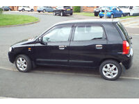 2004 Suzuki Alto GL Very low mileage. 5 Door, ABS, Black