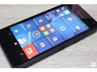 LUMIA 550 MICROSOFT SMARTPHONE BLACK,UNLOCKED TO ORANGE TMOBILE EE VERGIN,MINT CONDITION