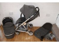 Mamas and Papas Urbo 2 Chestnut Tweed Grey pram pushchair 2 in 1 (can post)