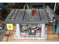 "Clarke 10"" Table Saw 240V complete with moveable work table"