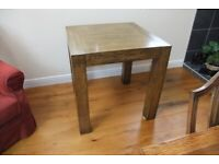 Four Oak square Tables
