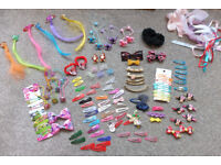 collection of hair clips and bands