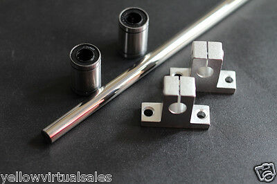 10mm 15-12 Hardened Shaft With Bearings Lm10uu Supports Rod Linear Rail Cnc