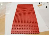lego plate 16 x 32 red