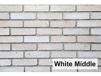 Brick slips- White Middle cladding, wall tiles