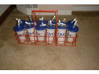 football water bottle carrier & bottles