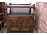Reproduction oak cabinet