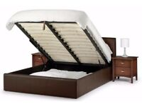 BRAND NEW DOUBLE LEATHER OTTOMAN STORAGE BED FRAME WITH SUPER ECONOMY MATTRESS