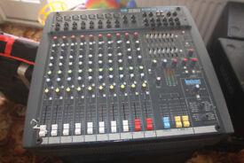 Soundcraft Power Station Mixing desk & Speakers