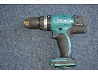 Makita 18volt cordless drill. Body only.