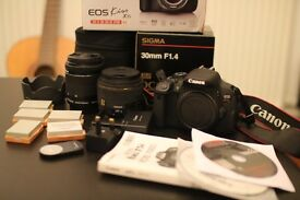 Canon EOS Kiss X7i (EOS 700D / EOS Rebel T5i) with Sigma 1.4 30mm lens