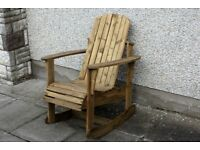 Adirondack Garden chair rocking chairs seat furniture set bench Summer Loughview Joinery LTD