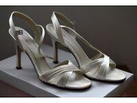 Ladies ivory wedding shoes