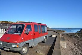 OPEN TO BEST OFFER Renault Camper, Double bed, kitchen, Big windows Great size, standing inside