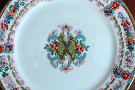 Stunning Antique Royal Stafford Display Plate 26cm Gilded Edge Flowers Vintage Decorative Plate