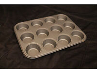 12 hole baking tin muffins cupcakes non stick