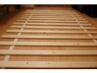 4ft 6inches Brand New Wooden Replacement Bed Slats For Double Bed To Clear !!!