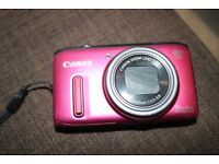 Used Canon Powershot SX260 HS Digital Camera - Pink (12.1 MP, 20x Optical Zoom) 3.0 Inch LCD