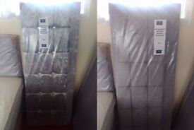 NEW Myer Adams King Size Headboards Silver
