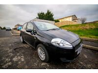 2006 FIAT GRANDE PUNTO MANUAL 5DR HATCHBACK (BLACK) - low mileage (37k), full service history