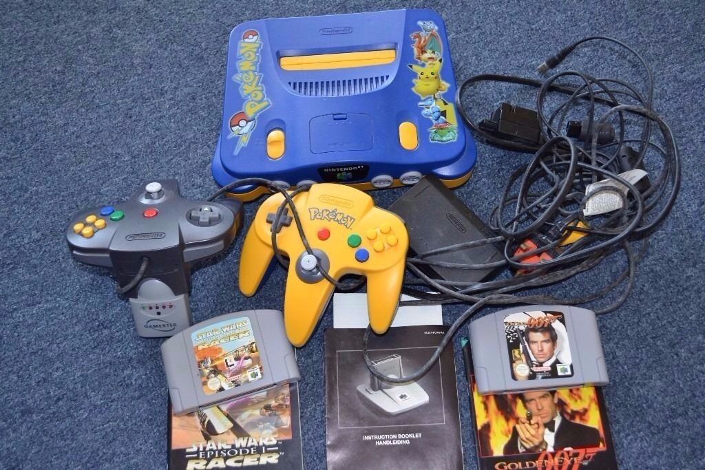 Nintendo 64 Console Controller Game Bundle.