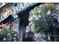 Experienced bar & waiting staff required to join the team at the Lord Wargrave