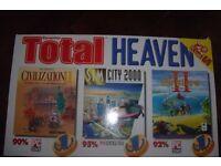 P C Games: Civilization II/SIM City 2000/The Settlers/Star Trek /PGA European Tour/Rally
