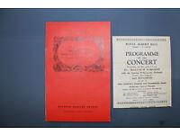 Royal Albert Hall concert programmes