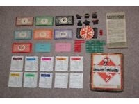 Vintage 1940's (WW2 edition) Monopoly Boxed - No board included