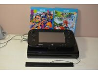 wii u console with 2 games for sale