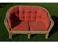 Sofa and armchair. Ideal for home, conservatory or garden. Stylish and contemporary looking.