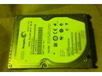 Seagate 500GB sata hard drive for Laptop (7200rpm)