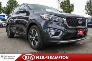2017 Kia Sorento EX. 7-SEATER. BACKUP CAM. LEATHER. ROOF. PWR SE