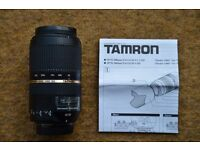 TAMRON SP 70-300mm F/4-5.6 Di VC USD Lens for Nikon £225.00 ono