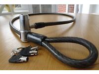 Motorcycle lock and cable