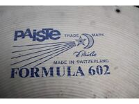 """Paiste Formula 602 22"""" Heavy cymbal - Blue logo - 1981 - factory drilled for rivets"""