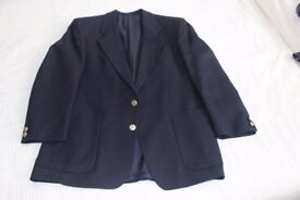 Dark Navy Single Breast 2 button Blazer, fully lined.