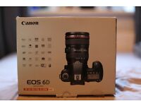 Canon 6D Full Frame DSLR body with 24-105 f/4 L IS USM lens. 23,610 shutter actuations.
