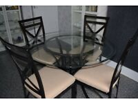 Sold - Dining table and four chairs very good condition