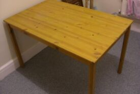 large solid pine table