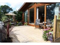 Luxury contemporary holiday lodge for sale in quiet peaceful location in the Lake District