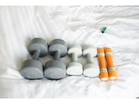 Dumbells 2x3kg, 2x1.5kg and 2x1kg WEST LONDON