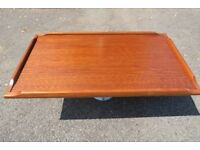 Boat Table Teak finish top in very good condition